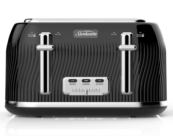 Sunbeam TA2540KP Coastal Collection 4 Slice Toaster - Black Pearl