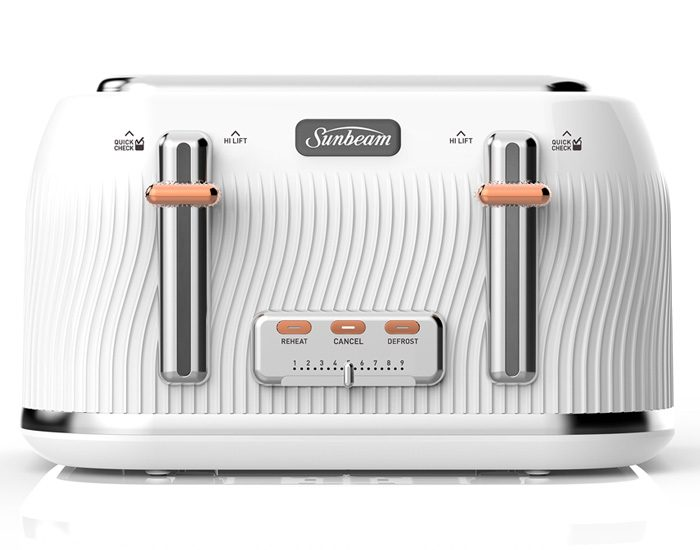 Sunbeam TA2540WS Coastal Collection 4 Slice Toaster - White Sand