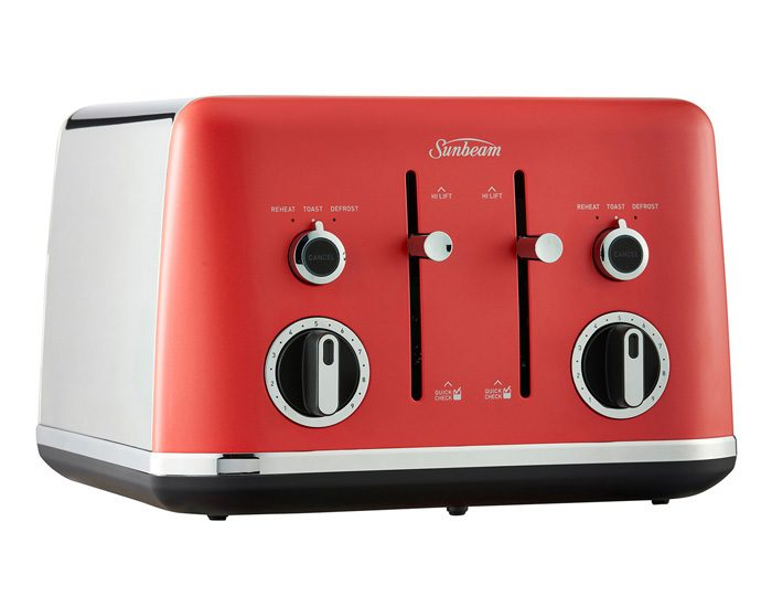 Sunbeam TA2640RW Gallerie 4 Slice Toaster - Red Watermelon