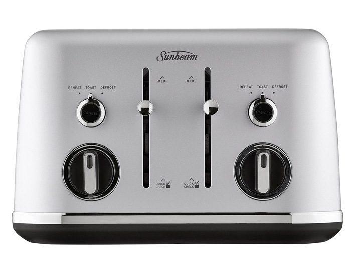 Sunbeam TA2640SC Gallerie 4 Slice Toaster - Silver Cloud