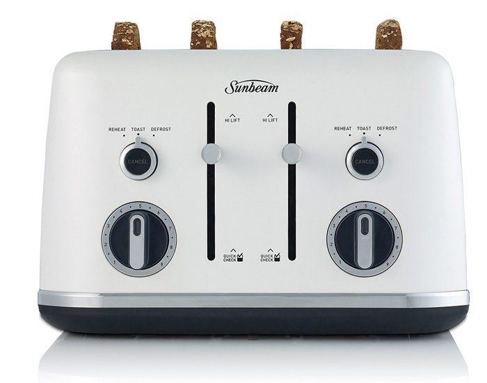 Sunbeam TA2640WS Gallerie 4 Slice Toaster - White Sky