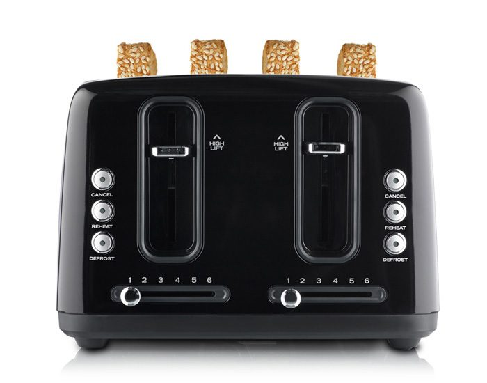 Sunbeam TA6344K Simply Stylish 4 Slice Toaster