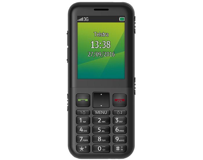 Telstra 817 ZTE EasyCall 4 Black Mobile Phone