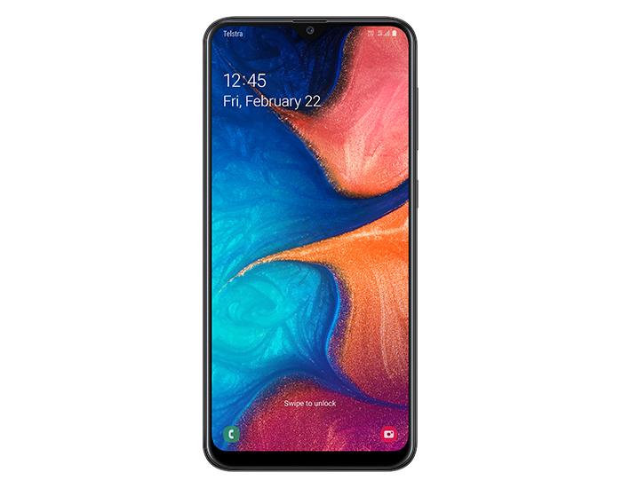 Telstra 877 Samsung Galaxy A20 4GX Black Mobile Phone