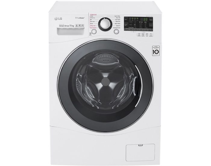 LG WD1411SBW 11kg Front Load Washer with TrueSteam®