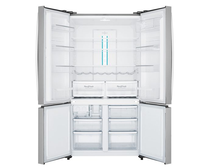Westinghouse WQE6000SA 600L Stainless Steel French Door Fridge