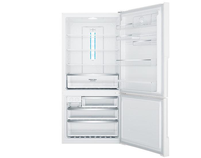 Westinghouse WBE5300WBR 528L white Bottom Mount Refrigerator Open