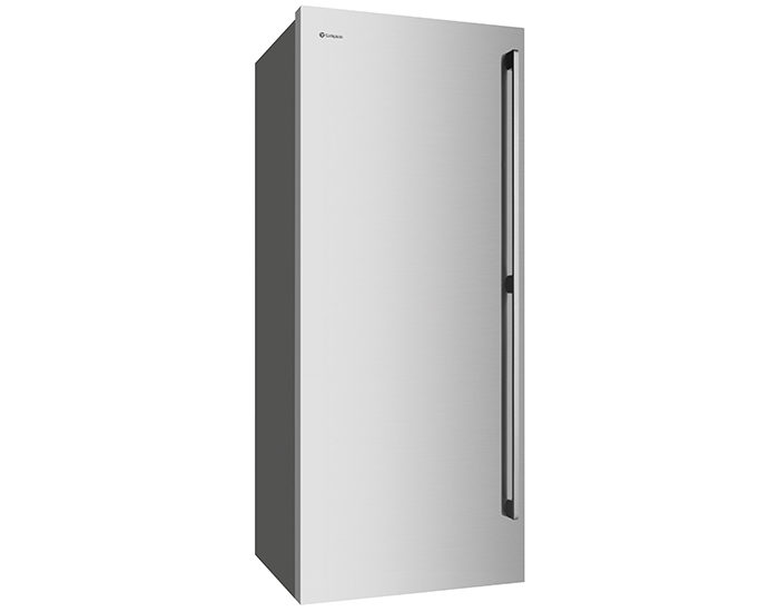 Westinghouse WFB4204SBL 425L Stainless Steel Vertical Freezer Angle