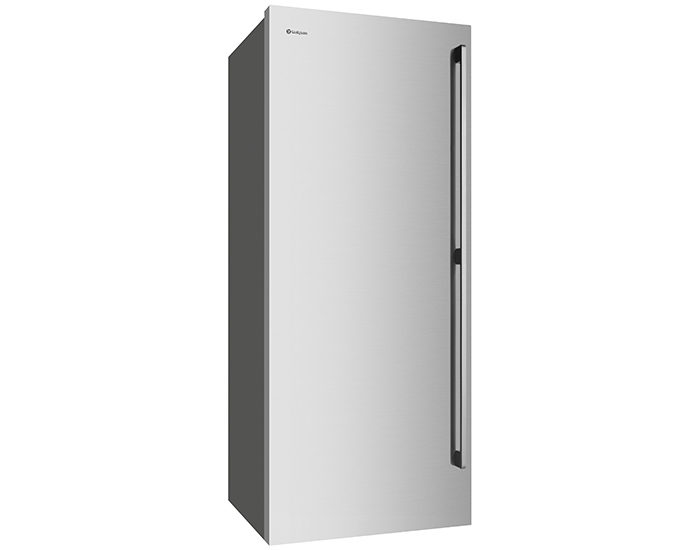 Westinghouse WFB4204SBR 425L Stainless Steel Vertical Freezer Angle