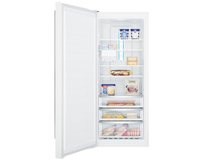 Westinghouse WFB4204WBR 425L Frost Free White Vertical Freezer Open Full