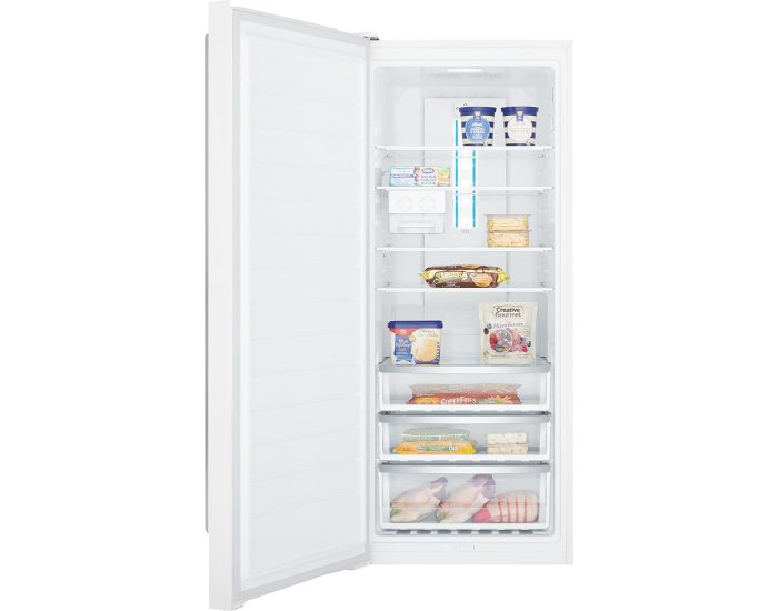 Westinghouse WFB4204WCL 425L Frost Free White Vertical Freezer Full Open