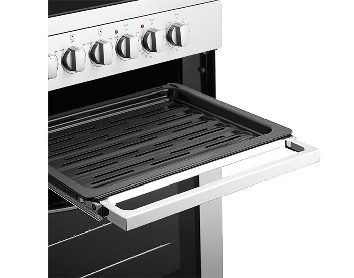 Westinghouse WFE647WA White 60cm Electric Freestanding Stove Grill