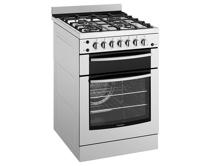 Westinghouse WFG617SALP 60cm Stainless Steel Gas Freestanding Stove Main