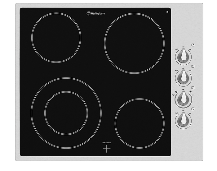 Westinghouse WHC644SA 60cm Ceramic Cooktop with Stainless Steel Trim 2
