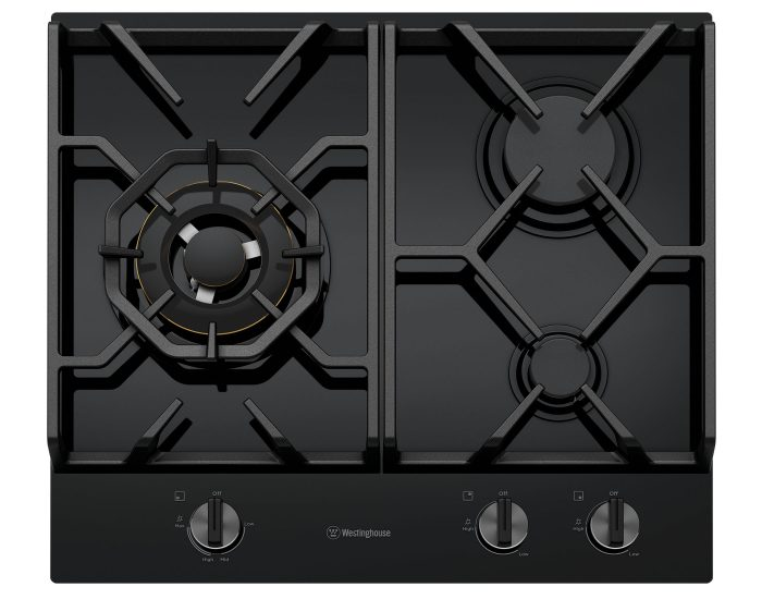 Westinghouse WHG638BC 60cm 3 Burner Black Tempered Glass Cooktop Main