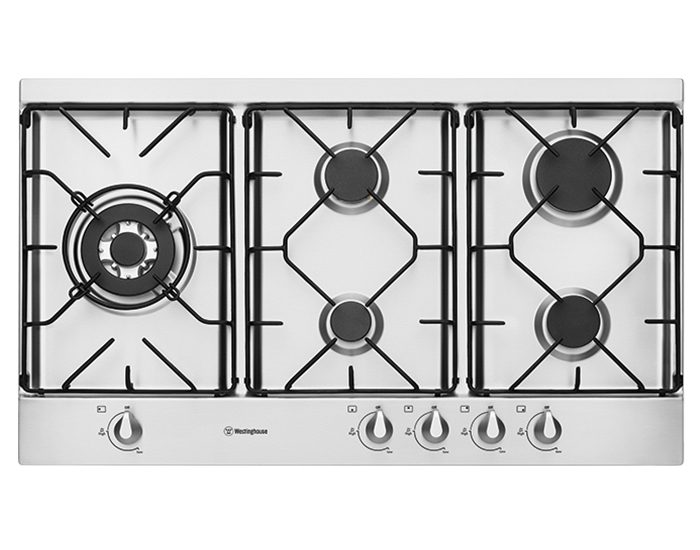 Westinghouse WHG952SB 90cm Stainless Steel Gas Cooktop