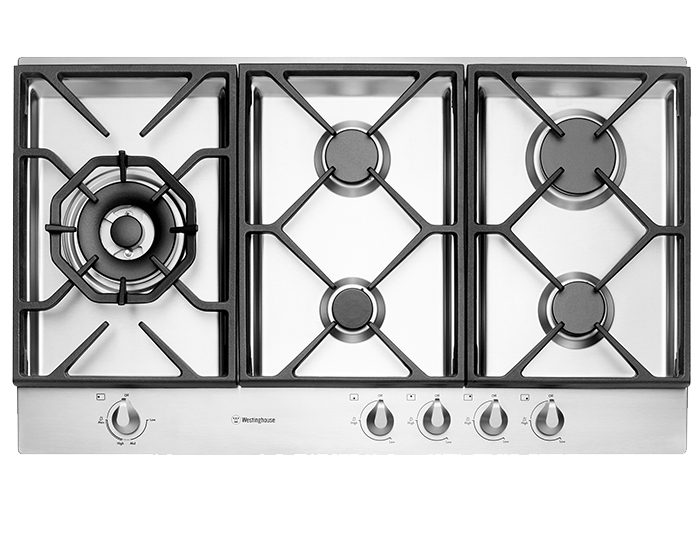 Westinghouse WHG956SB 90cm stainless steel gas cooktop