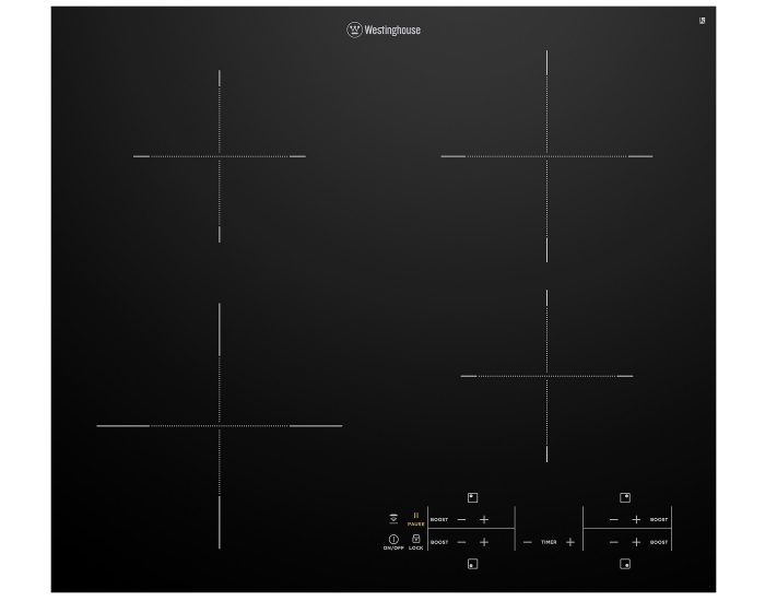 Westinghouse WHI643BC 60cm 4 Zone Induction Cooktop With Hob2Hood MainWestinghouse WHI643BC 60cm 4 Zone Induction Cooktop With Hob2Hood Main