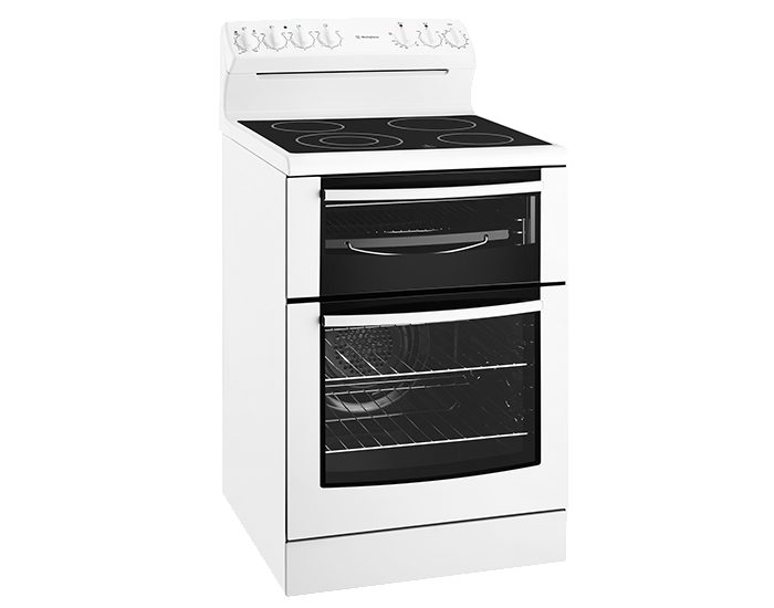 Westinghouse WLE645WA 60cm White Electric Upright Cooker With Ceramic Cooktop
