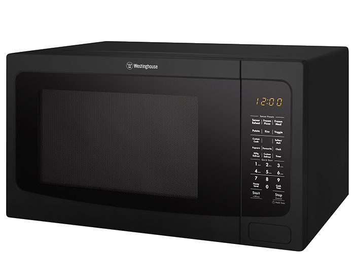 Westinghouse WMF4102BA 40L Black Countertop Microwave Oven Angle