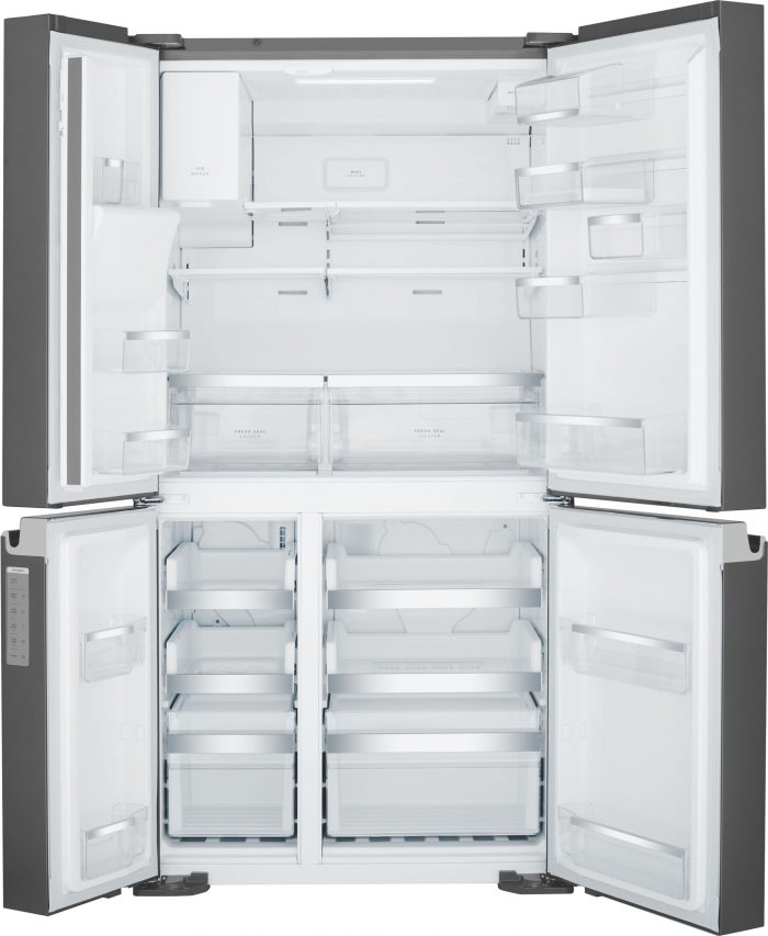 Westinghouse WQE6870BA 680L French Door Refrigerator in Dark Stainless Steel Open
