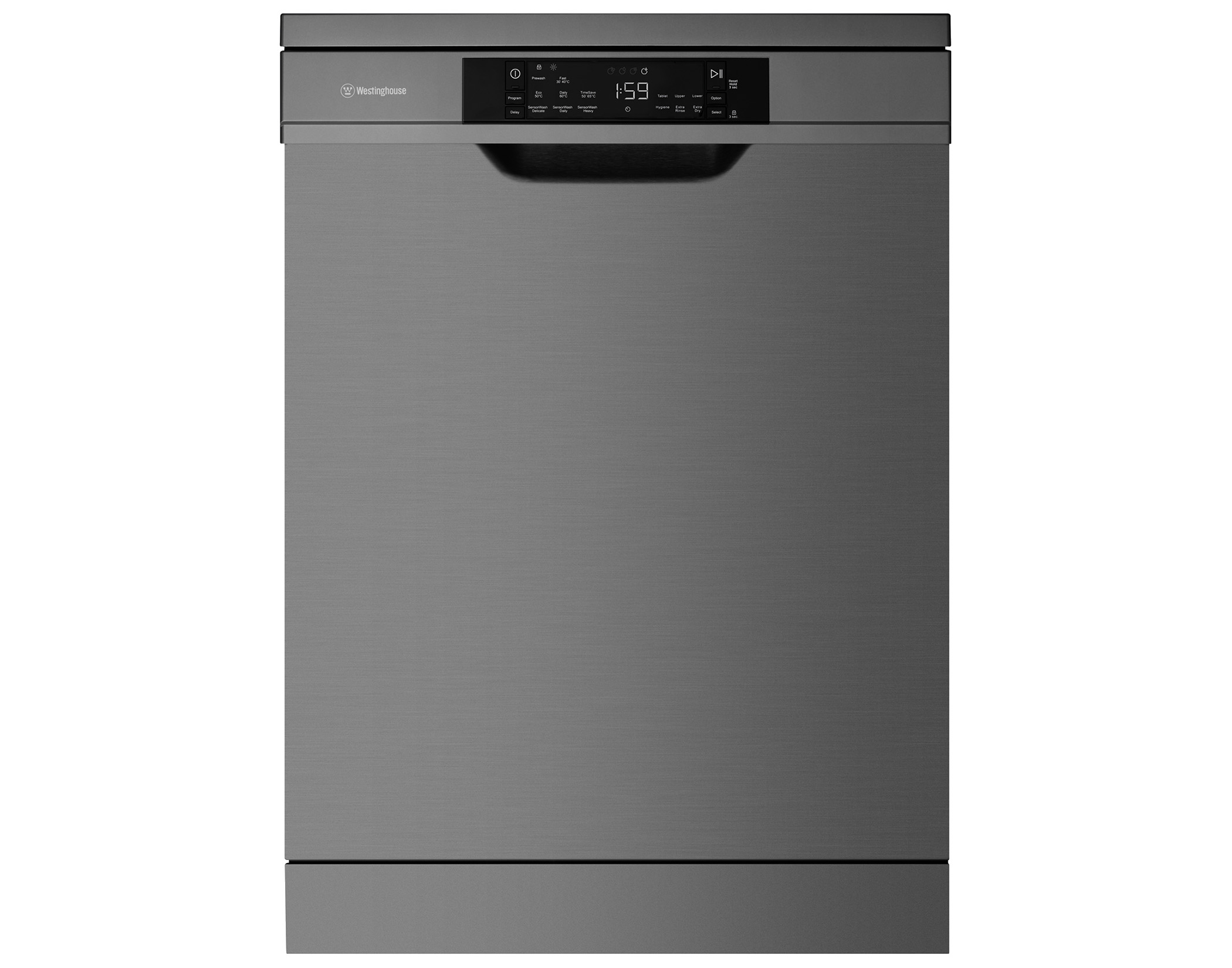 Westinghouse WSF6608KXA 60cm 15 Place Setting Black Stainless Dishwasher Main