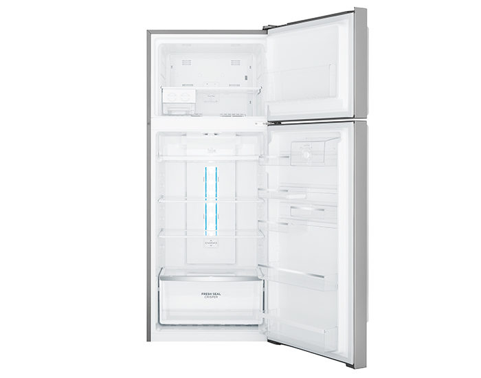Westinghouse WTB4604SBR 460L Stainless Steel Frost Free Top Mount Refrigerator Open Empty