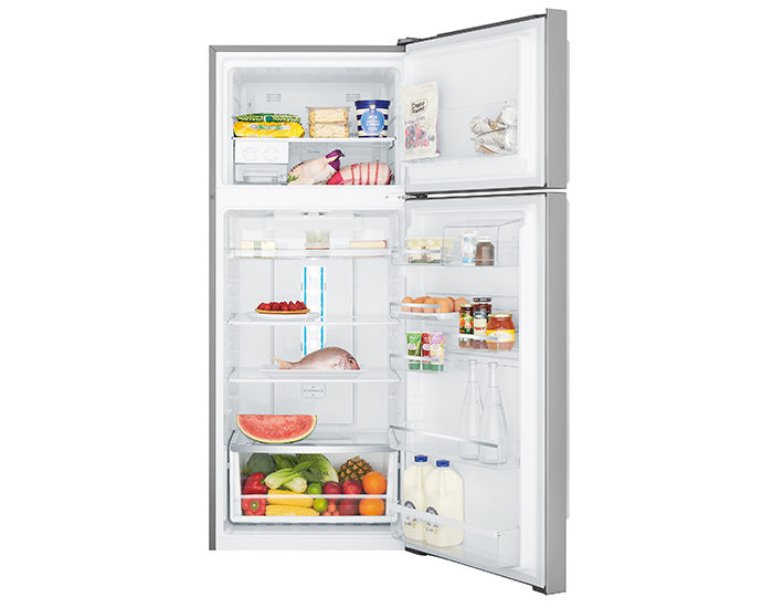Westinghouse WTB4604SBR 460L Stainless Steel Frost Free Top Mount Refrigerator Open Full