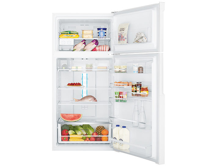 Westinghouse WTB5400WBR 536L White Frost Free Top Mount Refrigerator Open Full