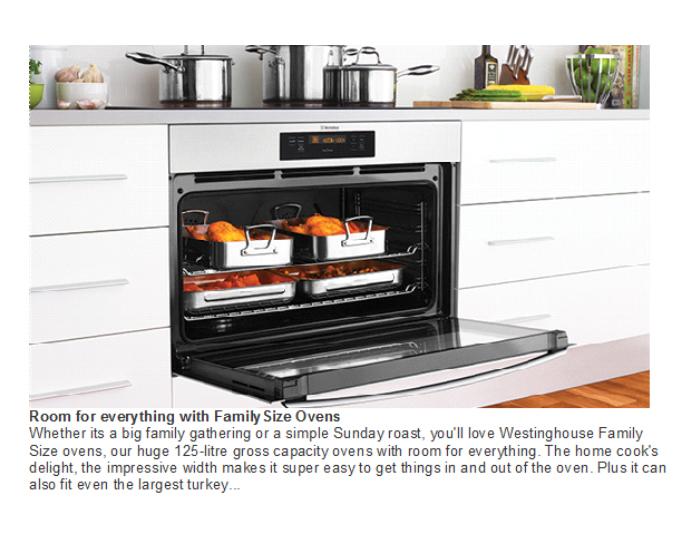 Westinghouse WVE914SB 90cm Electric Underbench Multifunction Oven 9
