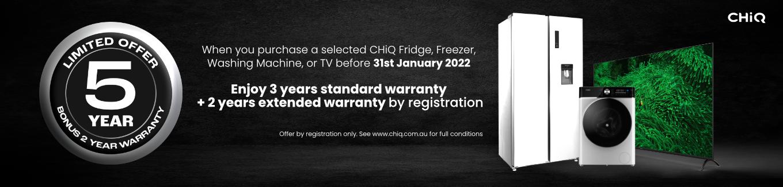 2021 Chiq 5 Year TV Warranty Desktop