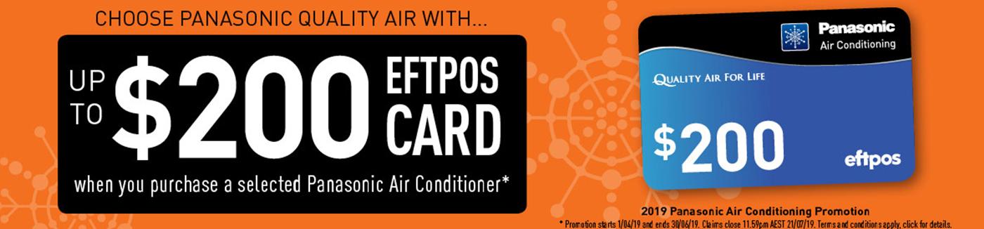 Panasonic EFTPOS Card Reward